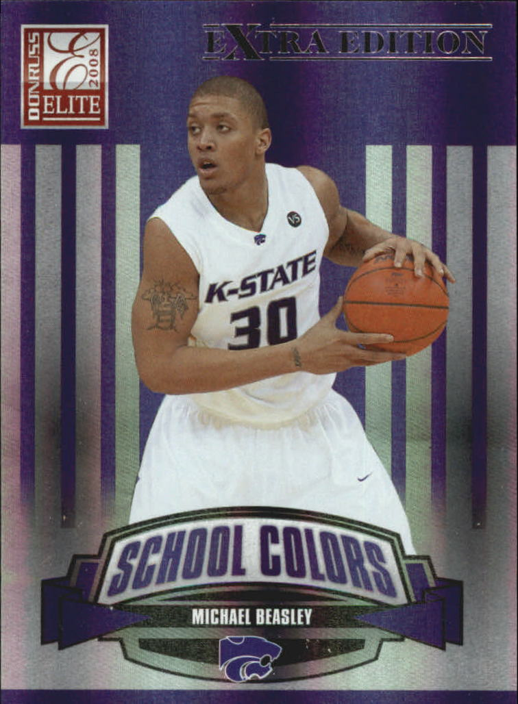 2008 Donruss Elite Extra Edition School Colors #7 Michael Beasley