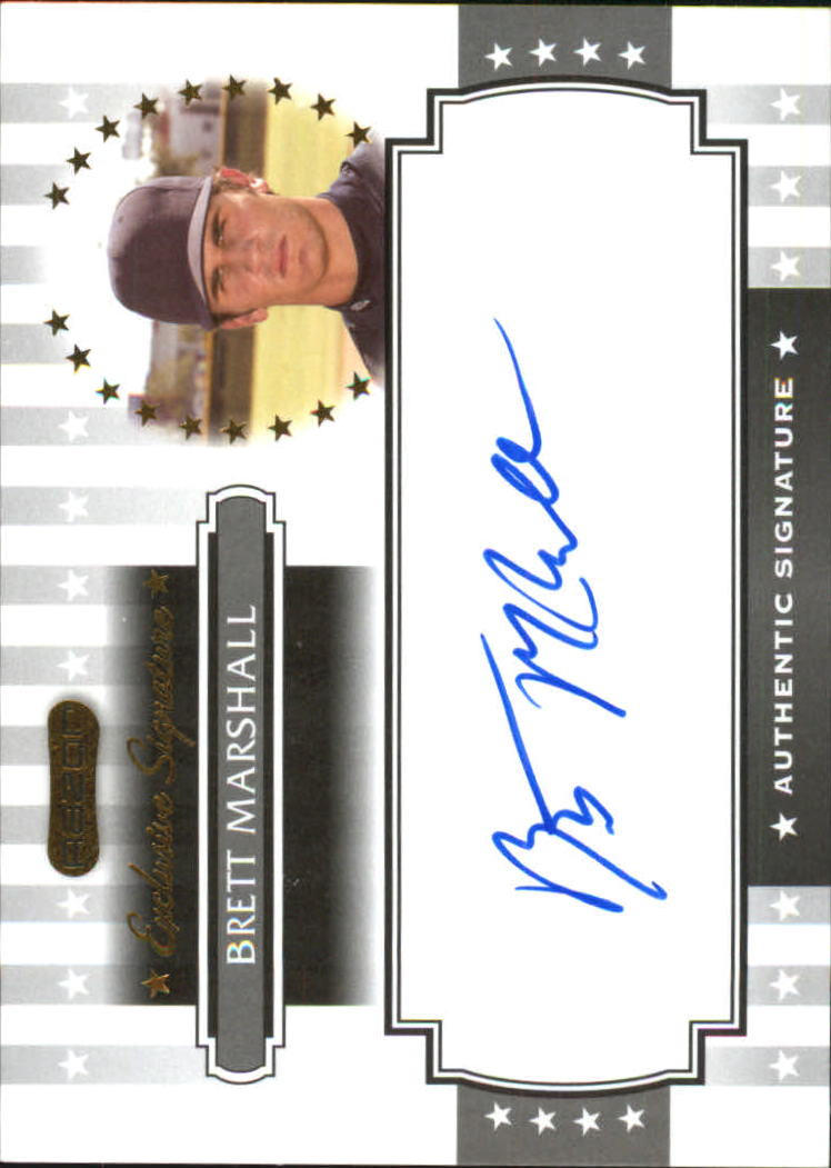 2008 Razor Signature Series Exclusives Autographs #ES31 Brett Marshall