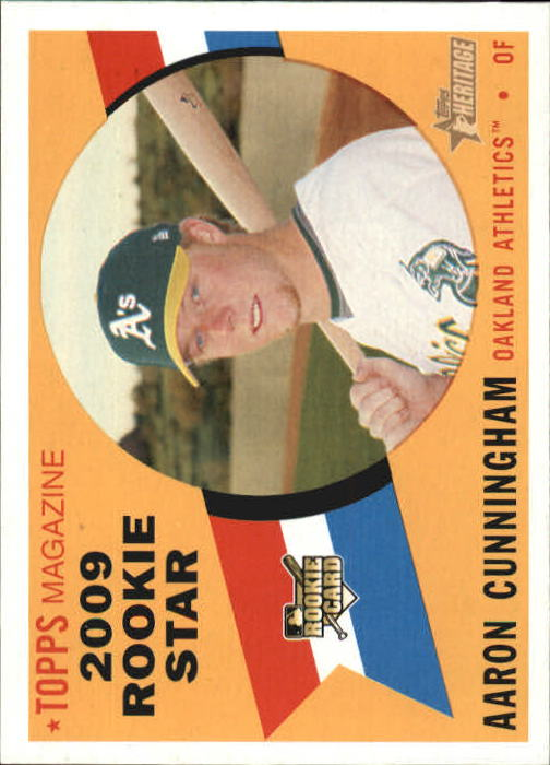 2009 Topps Heritage #147 Aaron Cunningham RC