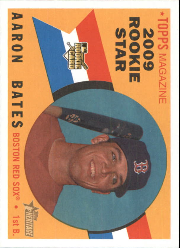 2009 Topps Heritage #528 Aaron Bates RC