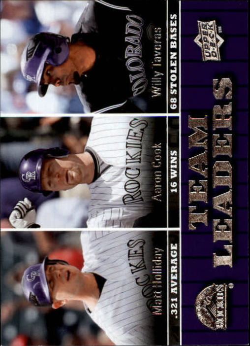 2009 Upper Deck #447 Matt Holliday/Aaron Cook/Willy Taveras TL