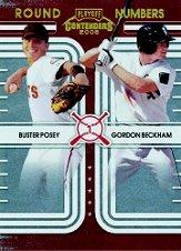 2008 Playoff Contenders Round Numbers #1 Buster Posey/Gordon Beckham