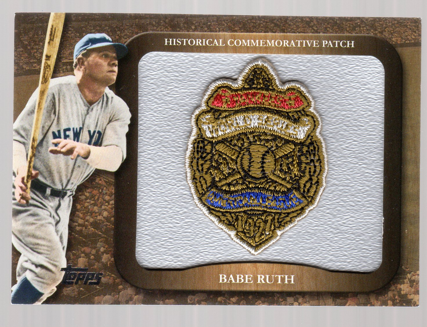 2009 Topps Legends Commemorative Patch #LPR2 Babe Ruth/1927 World Series