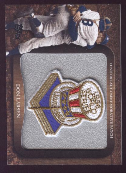 2009 Topps Legends Commemorative Patch #LPR21 Don Larsen/1956 World Series