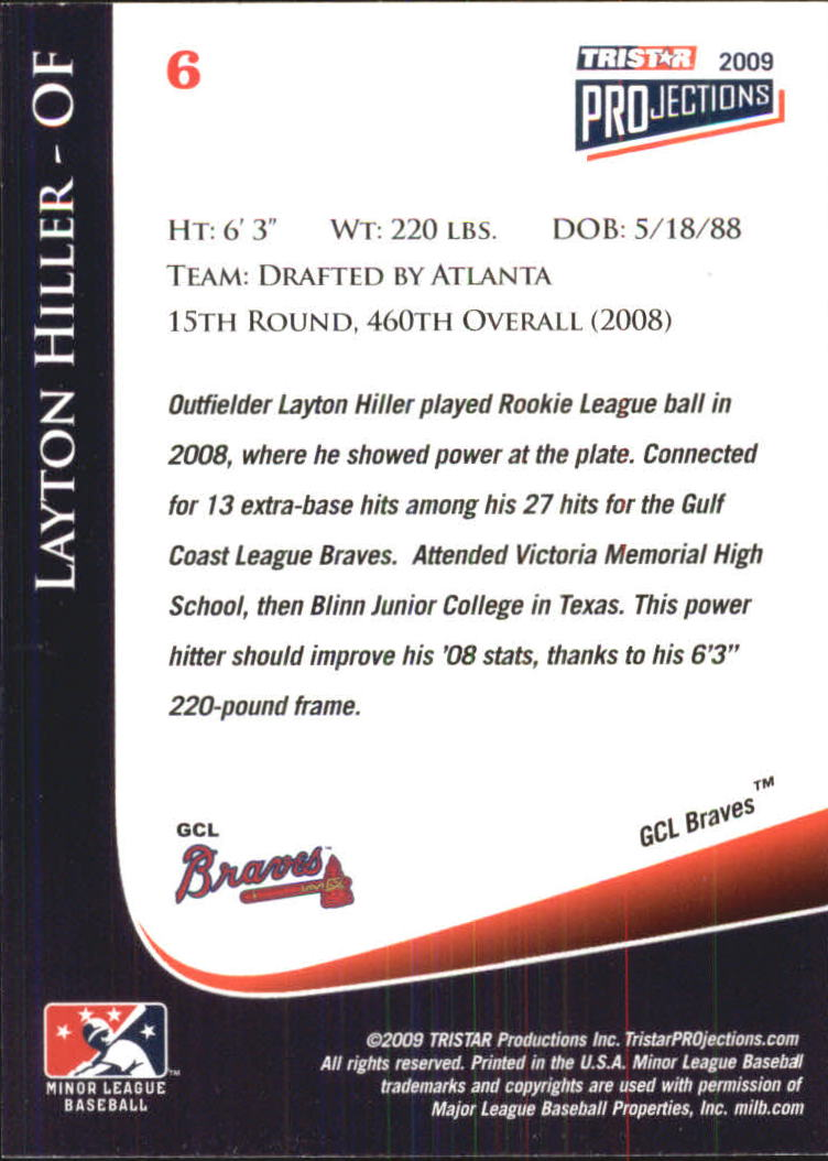 2009 TRISTAR PROjections #6 Layton Hiller PD back image