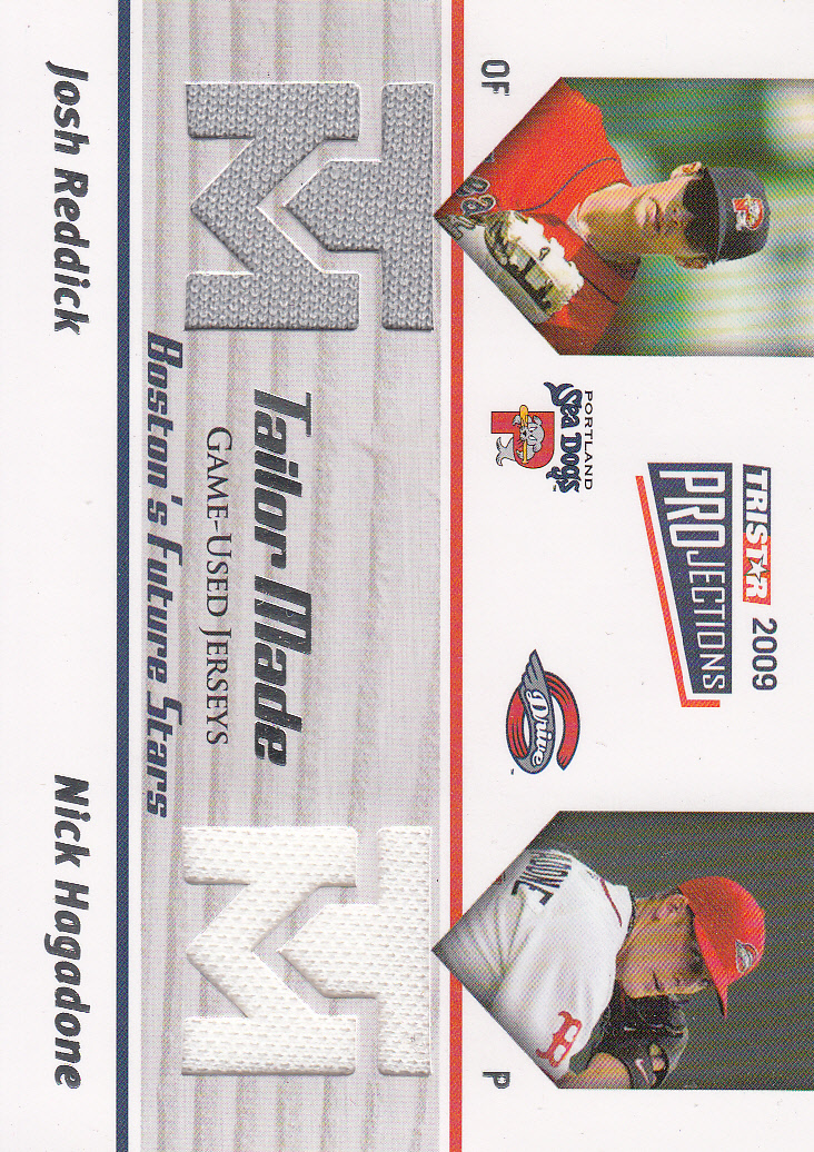 2009 TRISTAR PROjections Tailor Made #TM22 Josh Reddick/Nick Hagadone