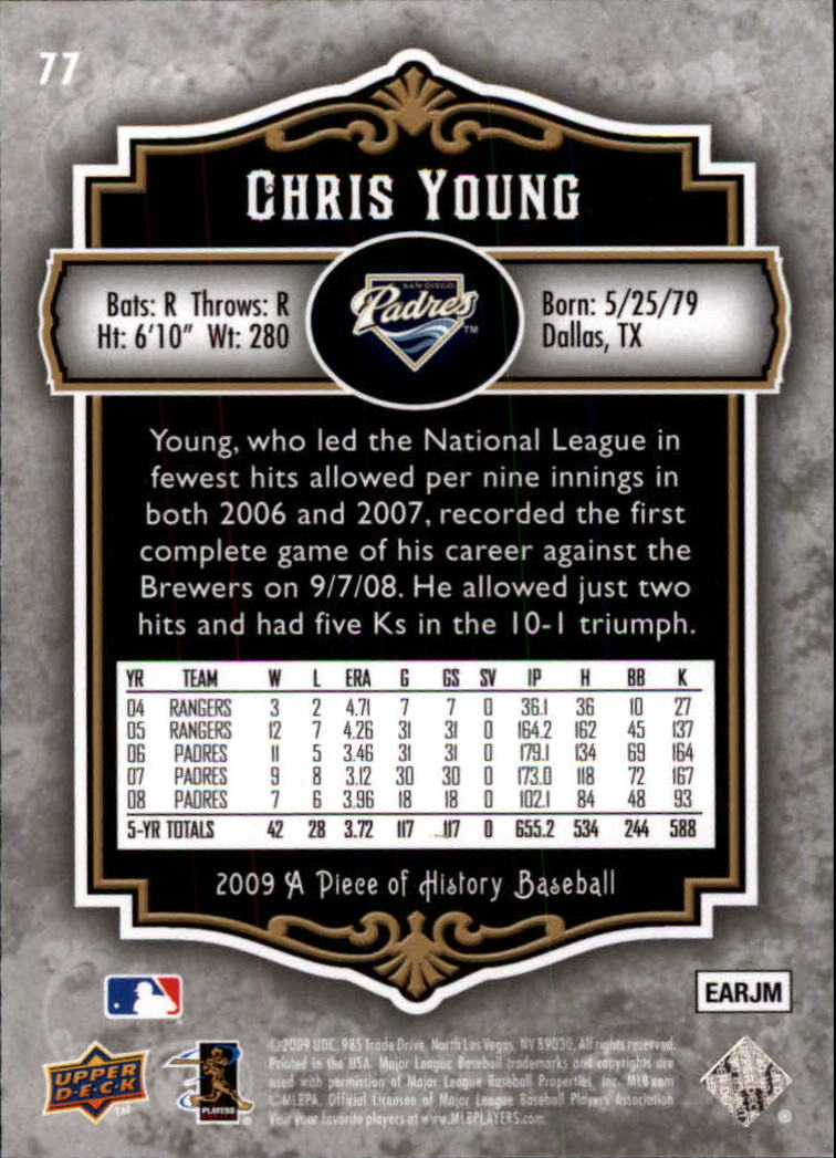 2009 UD A Piece of History #77 Chris Young