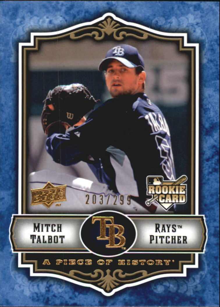 2009 UD A Piece of History Blue #150 Mitch Talbot
