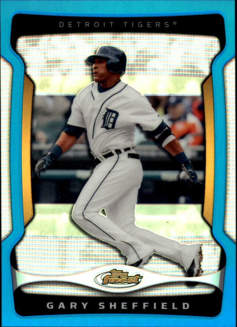 2009 Finest Refractors Blue #43 Gary Sheffield