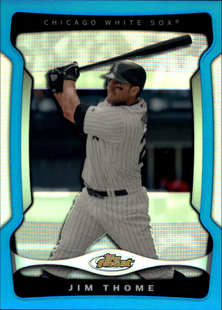 2009 Finest Refractors Blue #124 Jim Thome