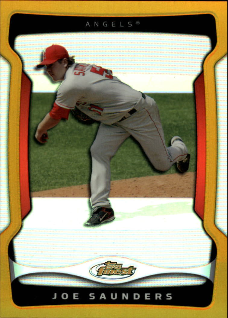 2009 Finest Refractors Gold #122 Joe Saunders