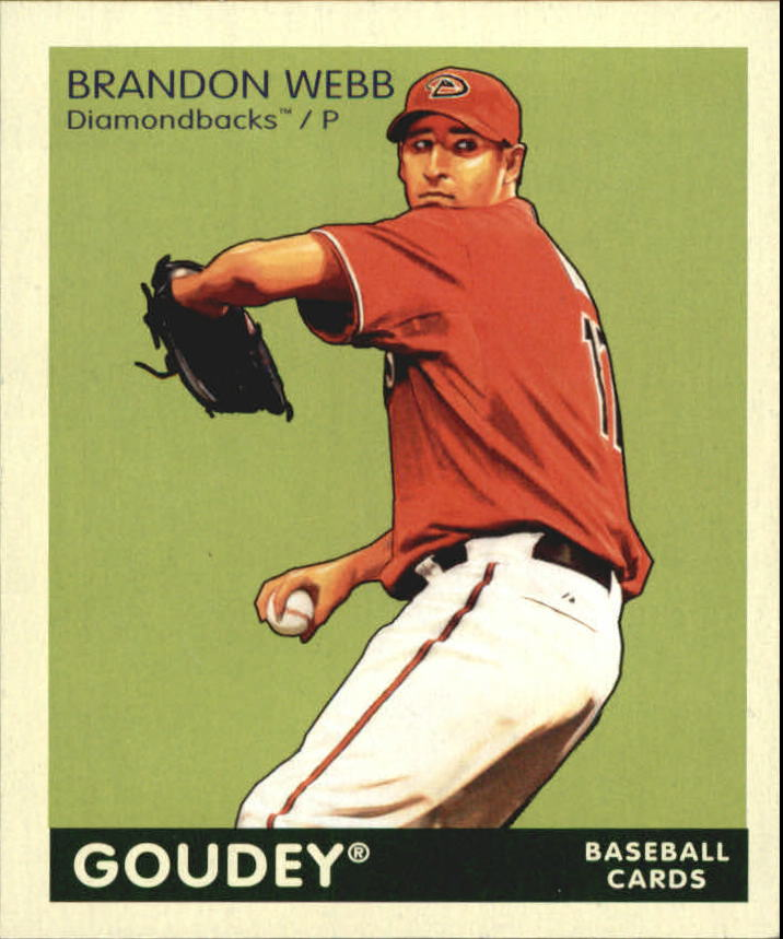 2009 Upper Deck Goudey Mini Green Back #5 Brandon Webb