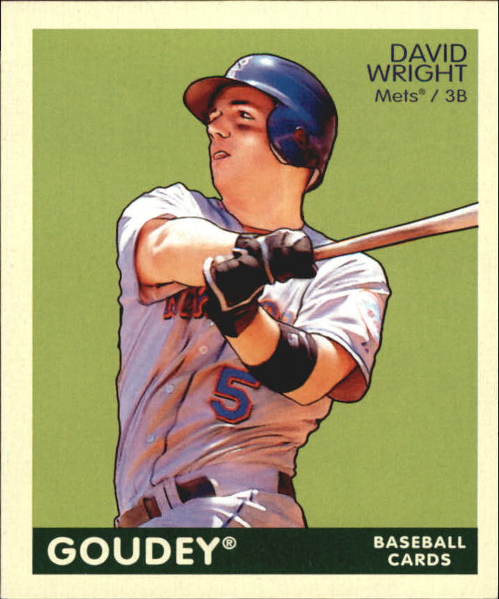 2009 Upper Deck Goudey Mini Green Back #125 David Wright