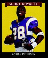 2009 Upper Deck Goudey Mini Green Back #251 Adrian Peterson SR