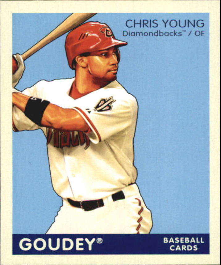2009 Upper Deck Goudey Mini Navy Blue Back #7 Chris B. Young