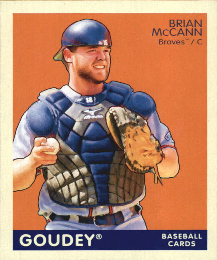 2009 Upper Deck Goudey Mini Navy Blue Back #8 Brian McCann