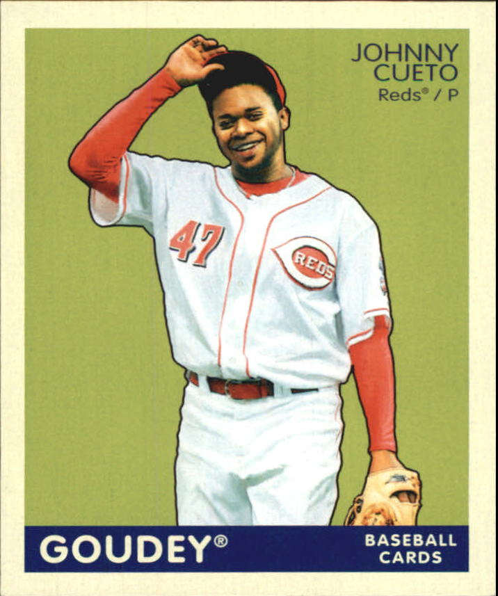 2009 Upper Deck Goudey Mini Navy Blue Back #53 Johnny Cueto