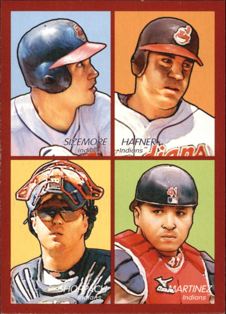 2009 Upper Deck Goudey 4-In-1 #53 Grady Sizemore/Travis Hafner/Victor Martinez/Kelly Shoppach