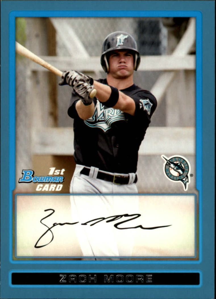 2009 Bowman Prospects Blue #BP85 Zach Moore