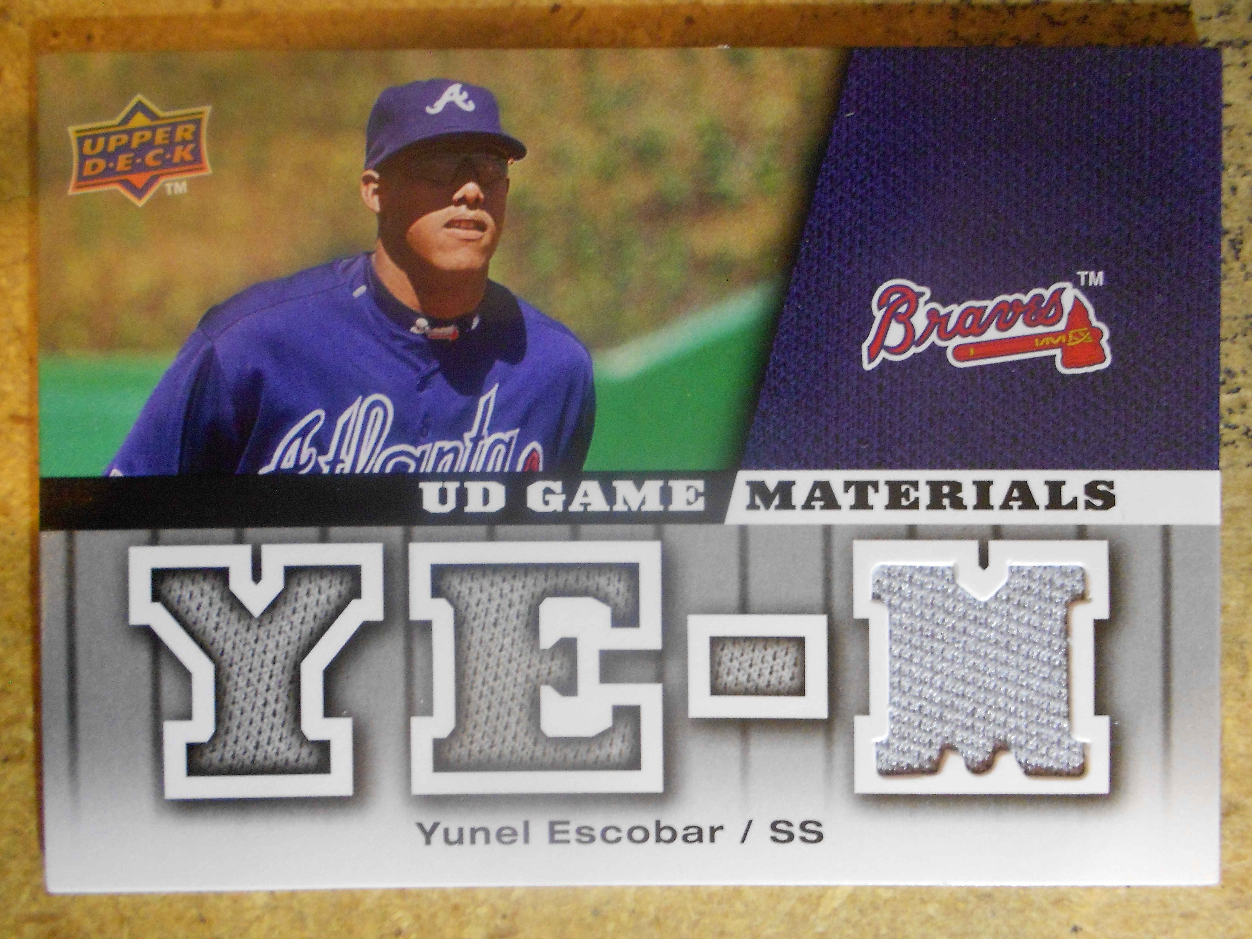 2009 Upper Deck UD Game Materials #GMYE Yunel Escobar