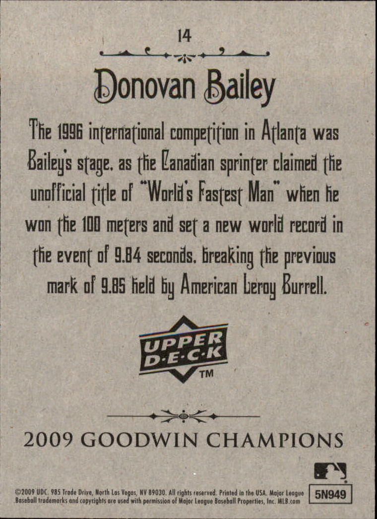 2009 Upper Deck Goodwin Champions #14 Donovan Bailey