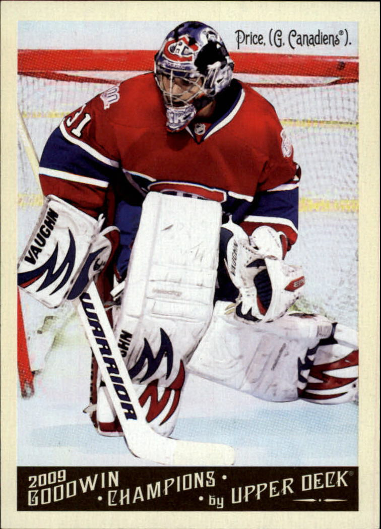 2009 Upper Deck Goodwin Champions #38 Carey Price