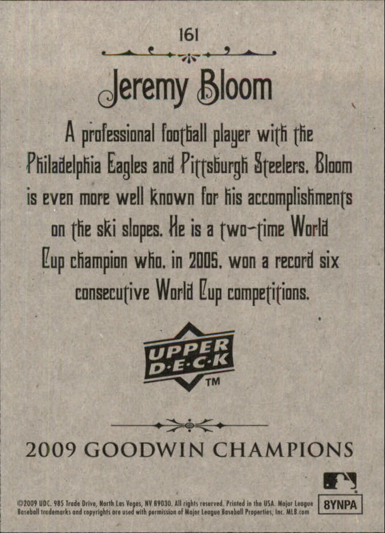 2009 Upper Deck Goodwin Champions #161 Jeremy Bloom SP