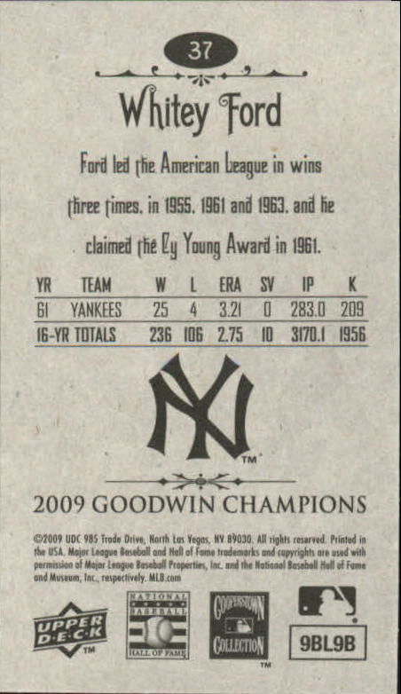 2009 Upper Deck Goodwin Champions Mini #37 Whitey Ford