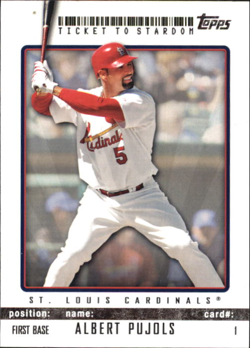 2009 Topps Ticket to Stardom #1 Albert Pujols