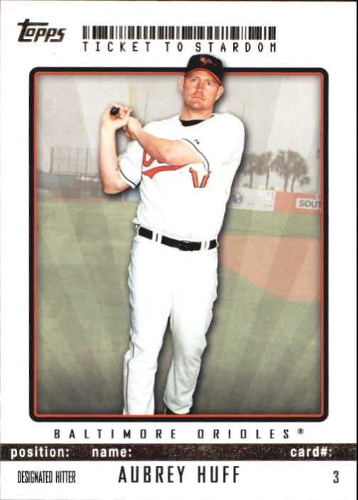 2009 Topps Ticket to Stardom #3 Aubrey Huff