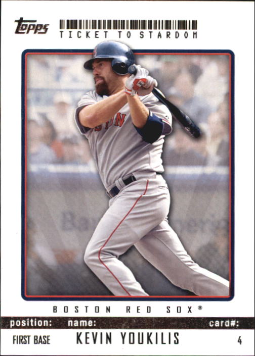 2009 Topps Ticket to Stardom #4 Kevin Youkilis
