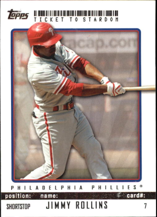 2009 Topps Ticket to Stardom #7 Jimmy Rollins