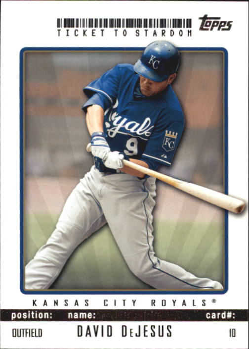 2009 Topps Ticket to Stardom #10 David DeJesus