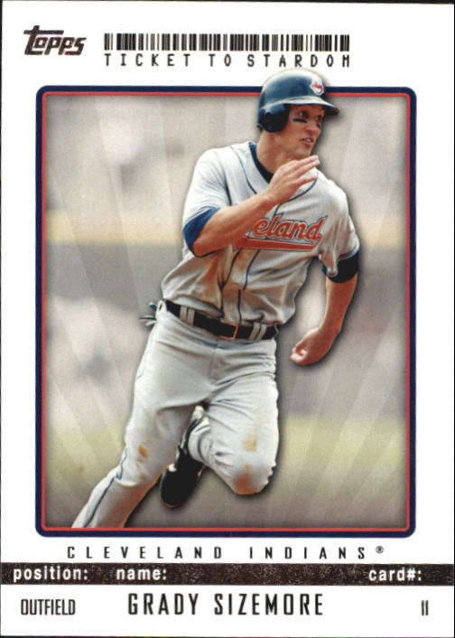 2009 Topps Ticket to Stardom #11 Grady Sizemore