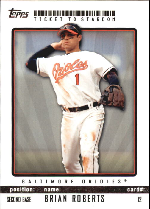 2009 Topps Ticket to Stardom #12 Brian Roberts