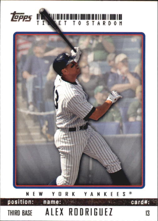 2009 Topps Ticket to Stardom #13 Alex Rodriguez