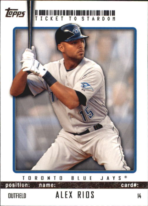 2009 Topps Ticket to Stardom #14 Alex Rios