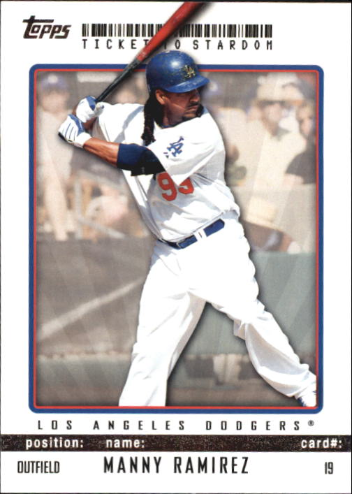 2009 Topps Ticket to Stardom #19 Manny Ramirez
