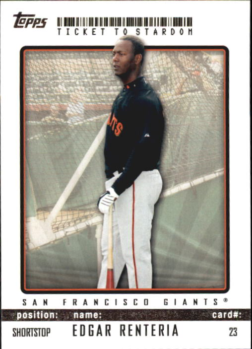 2009 Topps Ticket to Stardom #23 Edgar Renteria
