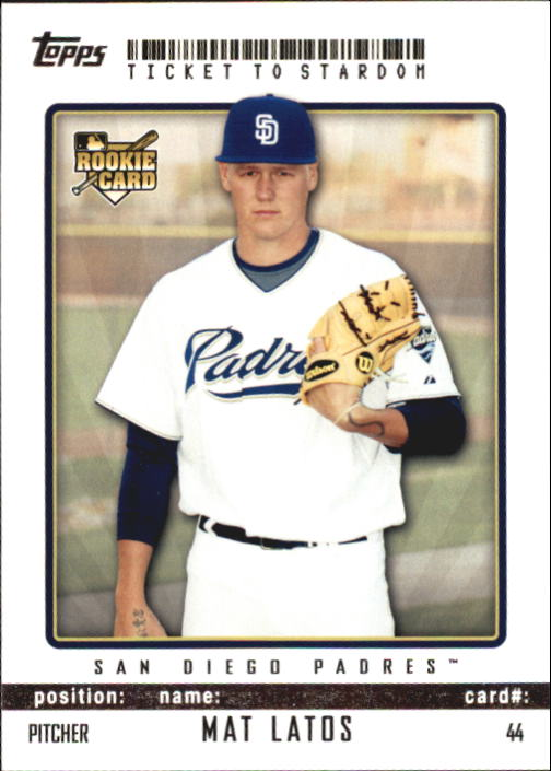 2009 Topps Ticket to Stardom #44 Mat Latos RC