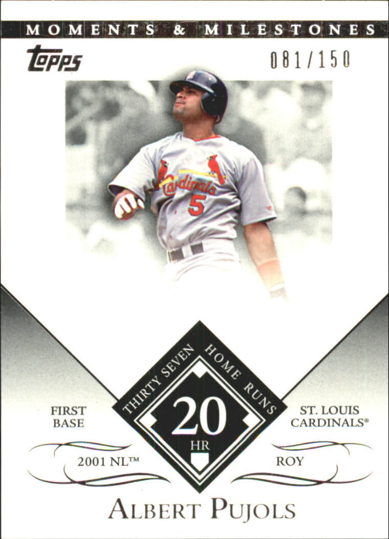 2007 Topps Moments and Milestones #1-20 Albert Pujols/HR 20