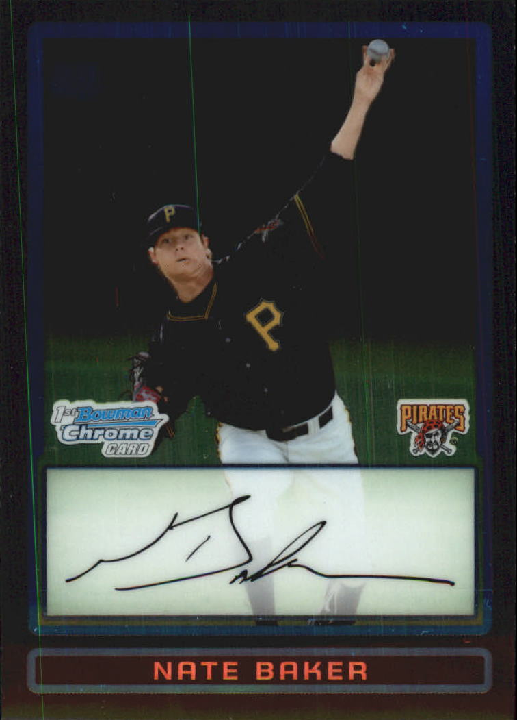 2009 Bowman Chrome Draft Prospects #BDPP70 Nate Baker