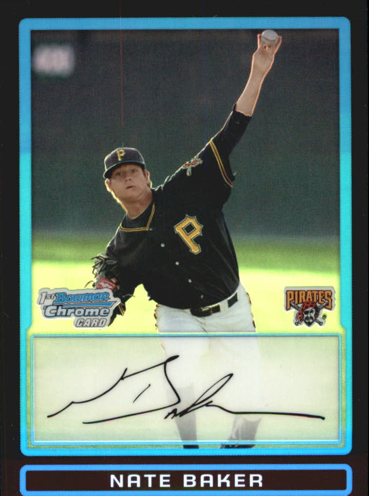 2009 Bowman Chrome Draft Prospects Refractors #BDPP70 Nate Baker