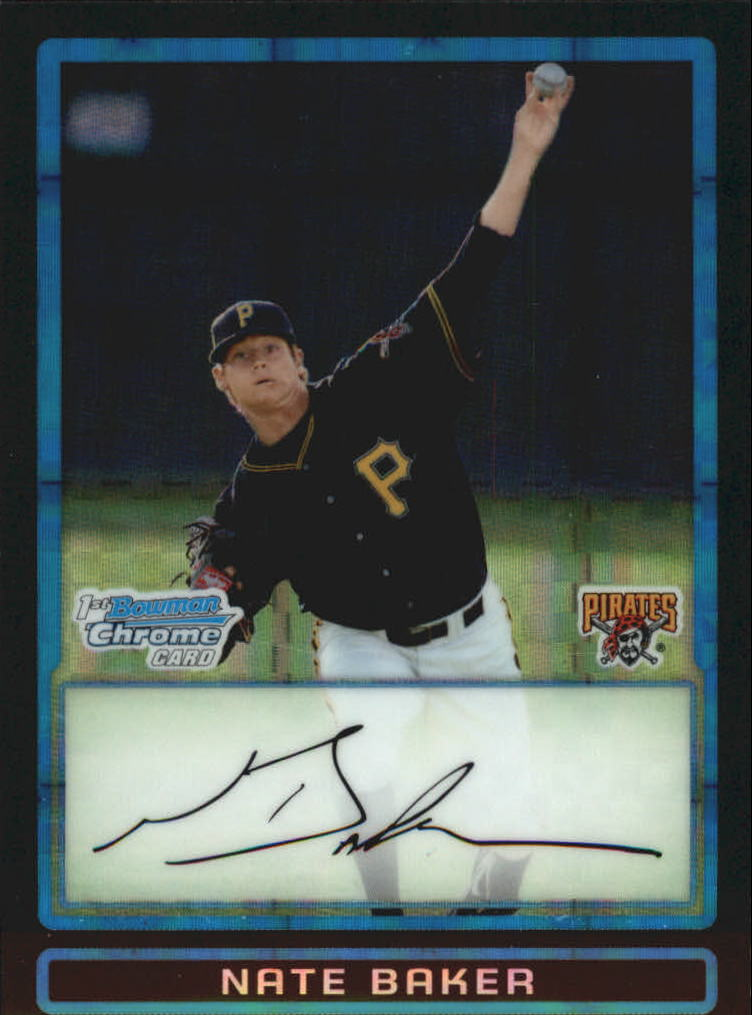 2009 Bowman Chrome Draft Prospects X-Fractors #BDPP70 Nate Baker