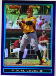 2009 Bowman Chrome Draft WBC Prospects Purple Refractors #BDPW26 Miguel Cabrera