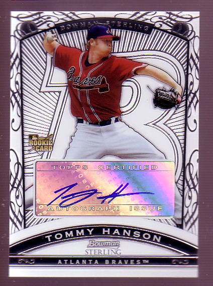 2009 Bowman Sterling #TH Tommy Hanson AU RC
