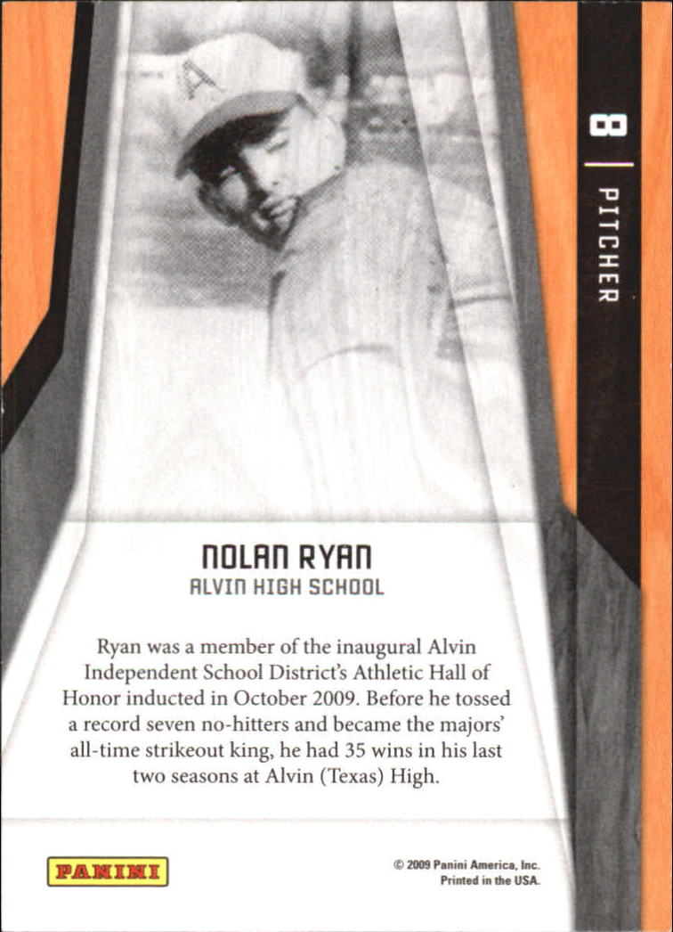 2009 Donruss Elite Extra Edition Elite Series #8 Nolan Ryan back image