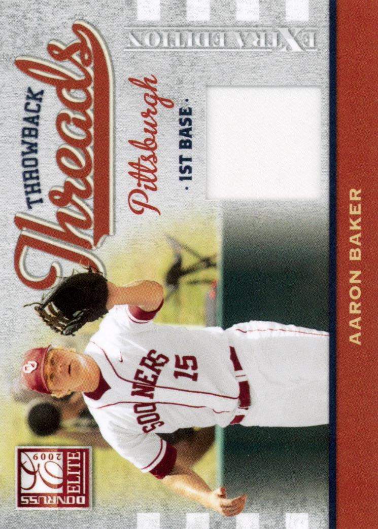 2009 Donruss Elite Extra Edition Throwback Threads #22 Aaron Baker/250