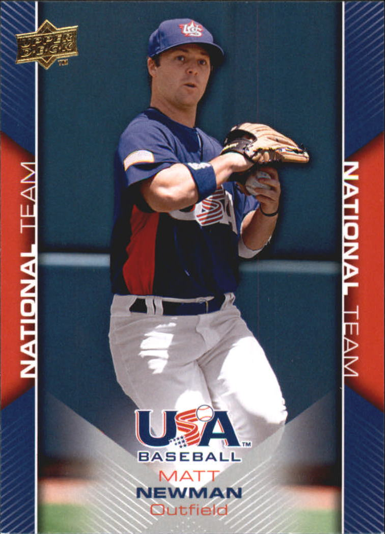 2009-10 USA Baseball #USA15 Matt Newman