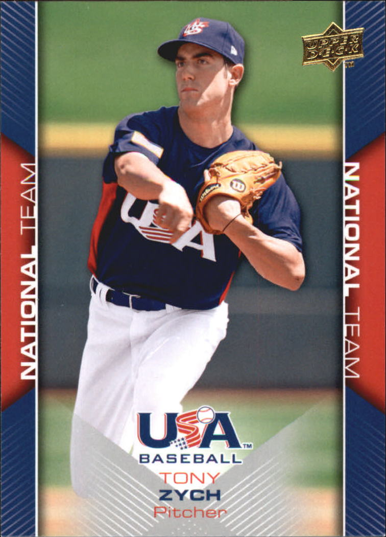 2009-10 USA Baseball #USA20 Tony Zych